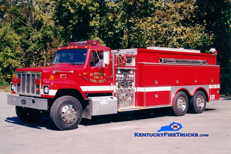 <center> RETIRED <br> Burnside  Engine 21 <br> 1993 International S/Allegheny 1250/2500 <br> Greg Stapleton photo </center>