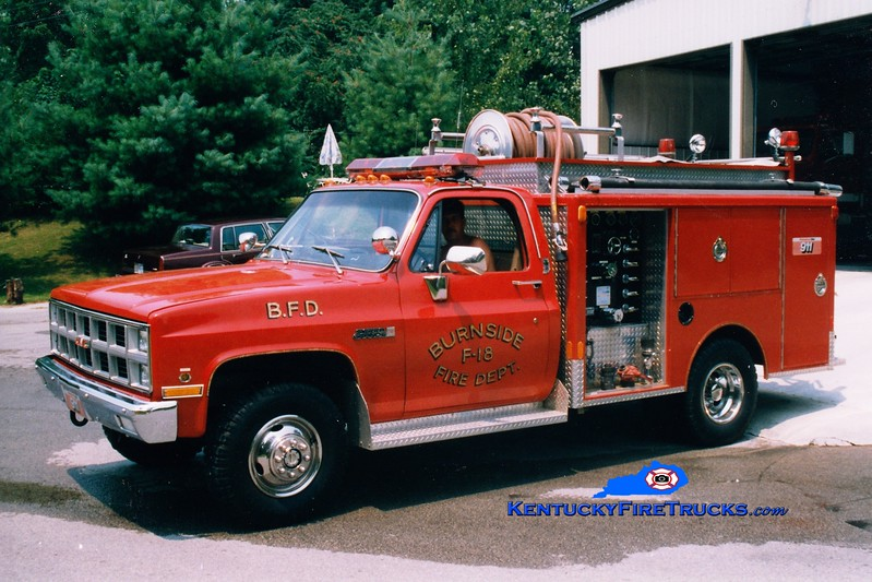 <center> RETIRED <br> Burnside  Engine 18 <br> 1981 GMC 4x4/Indiana 250/300 <br> Greg Stapleton photo </center>