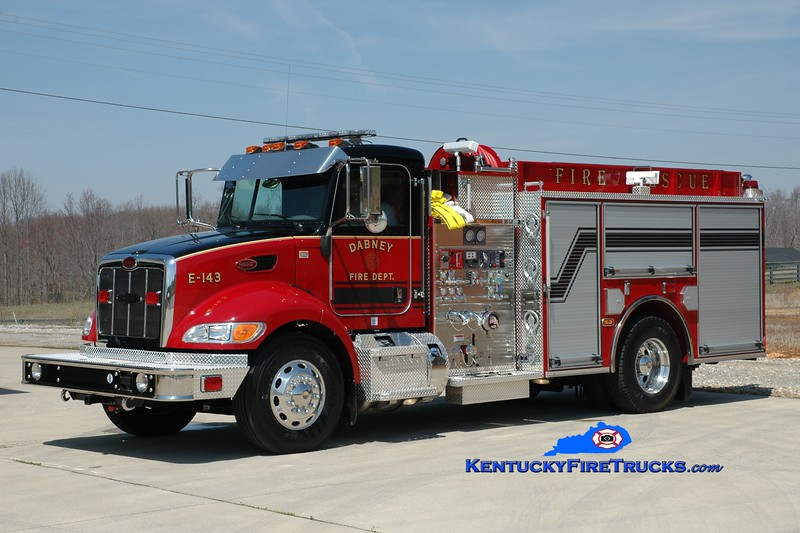 <center> Dabney  Engine 143 <br> 2011 Peterbilt/Pierce 1250/750 <br> Greg Stapleton photo <br> </center>