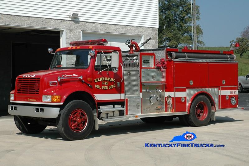 <center> Eubank  Engine 29 <br> 1993 International 4900/Allegheny 1250/1000 <br> Greg Stapleton photo <br> </center>