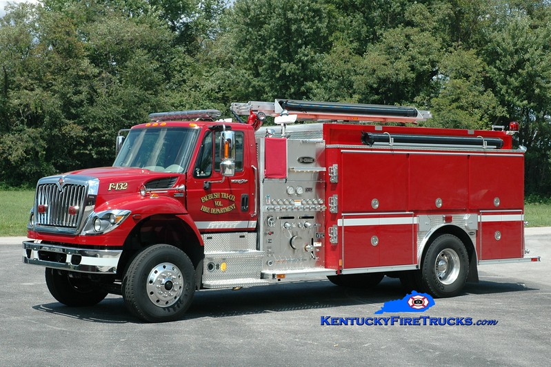 <center> Faubush Tri-County  Engine 132 <br> 2012 International 7400/E-One 1250/1500  <br> Greg Stapleton photo <br> </center>