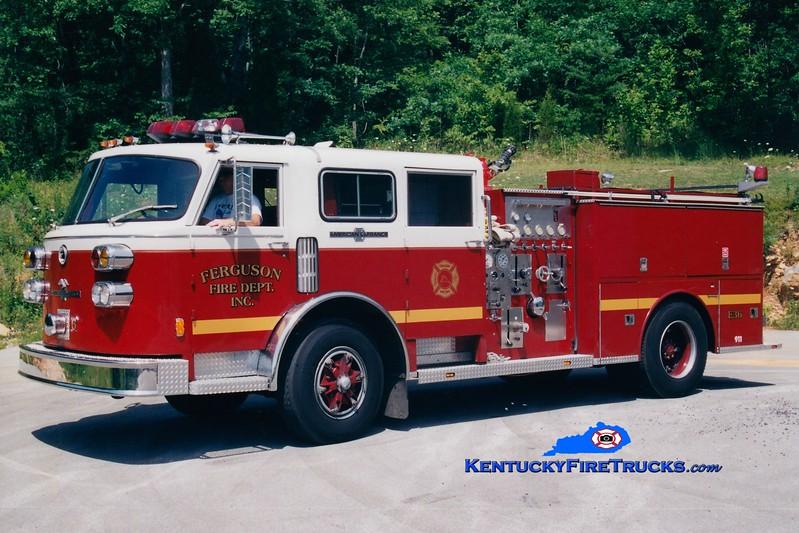 <center> Ferguson Engine 36 <br> x-FDNY <br> 1980 American LaFrance Century/2001 Wynn 1000/1000 <br> Greg Stapleton photo </center>