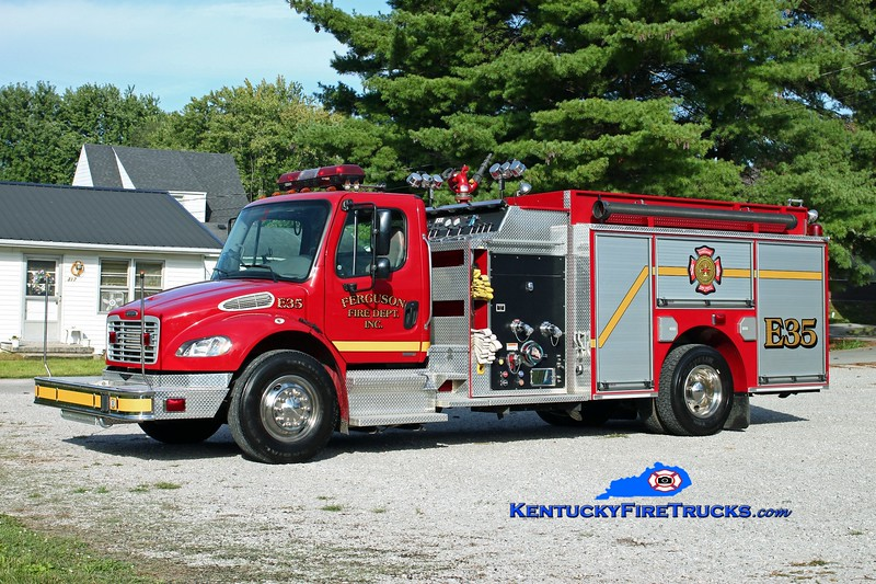 <center> Ferguson Engine 35 <br> 2004 Freightliner M2-106/Pierce 1250/1000/30 <br> Kent Parrish photo </center>
