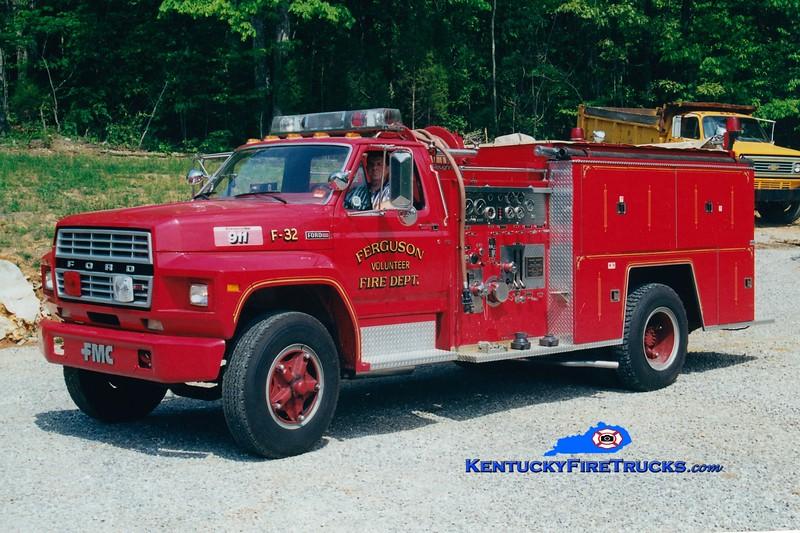 <center> RETIRED <BR> Ferguson Engine 32 <br> 1981 Ford F-800/FMC 750/750 <br> Greg Stapleton photo </center>