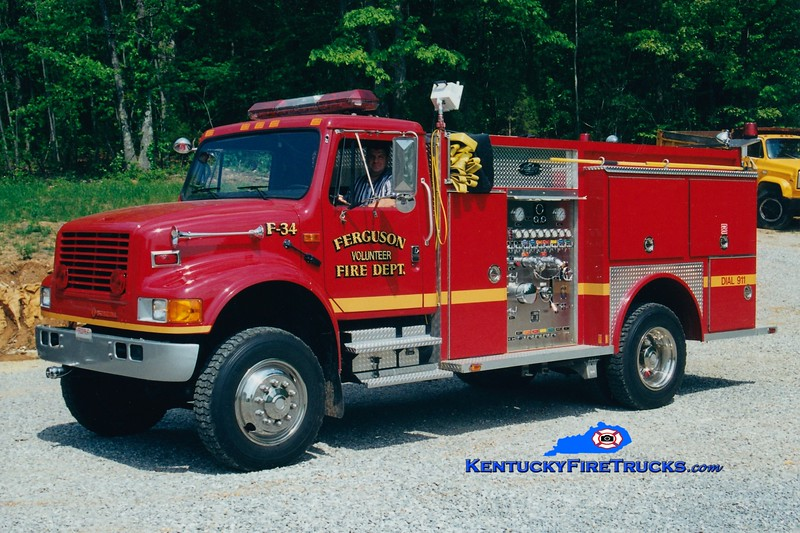 <center> Ferguson Engine 34 <br> 1993 International 4900 4x4/Allegheny 750/500 <br> Greg Stapleton photo </center>