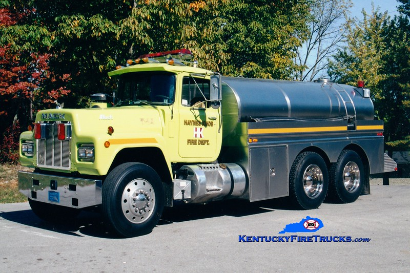 <center> RECHASSIED <br> Haynes Knob  Tanker 14 <br> 1986 Mack R/Bluegrass 400/2500 <br> Greg Stapleton photo </center>