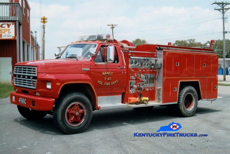 <center> RETIRED <br> Nancy  Engine 47 <br> 1981 Ford F/FMC 750/750 <br> Greg Stapleton photo </center>