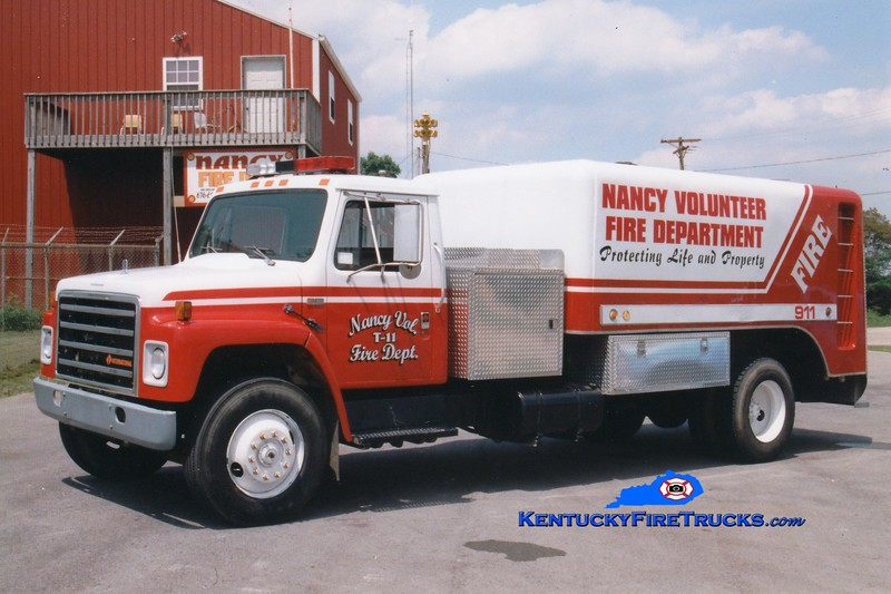 <center> RETIRED <br> Nancy  Tanker 11 <br> 1987 International S/Kari-Cool 500/2600 <br> Greg Stapleton photo </center>