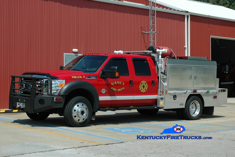 <center> RECHASSIED <br> Nancy  Rescue 7 <br> 2010 Ford F-450 4x4/Wynn 250/300/CAFS <br> Greg Stapleton photo </center>