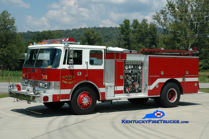 <center> RETIRED <br> Nancy  Engine 50 <br> x-Madison Twp, OH <br> 1986 Pierce Dash 1250/750 <br> Greg Stapleton photo </center>