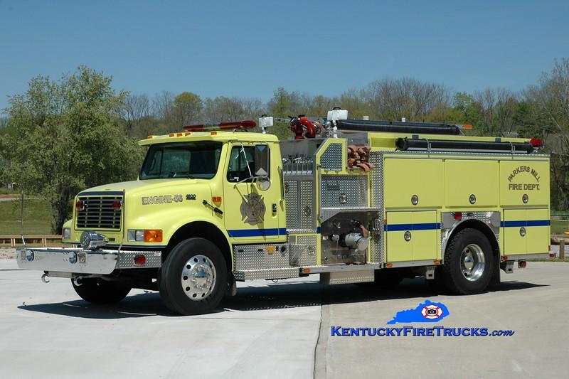<center> Parkers Mill  Engine 56 <br> 2001 International 4900/E-One 1250/1000 <br> Greg Stapleton photo </center>