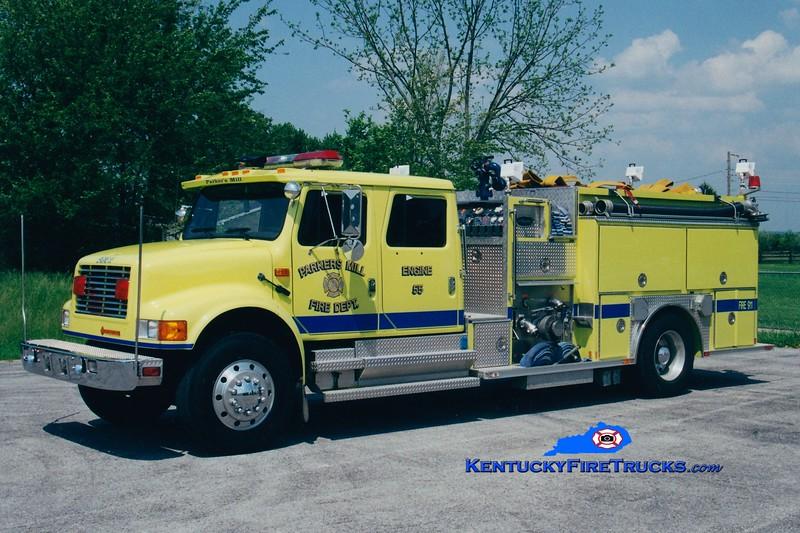 <center> RETIRED <BR> Parkers Mill  Engine 55 <br> 1993 International 4900/Allegheny 1250/1500 <br> Greg Stapleton photo </center>