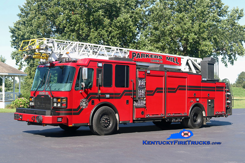 Parkers Mill  Ladder 55<br /> 2016 Ferrara Cinder 2000/500/30/77'<br /> Kent Parrish photo