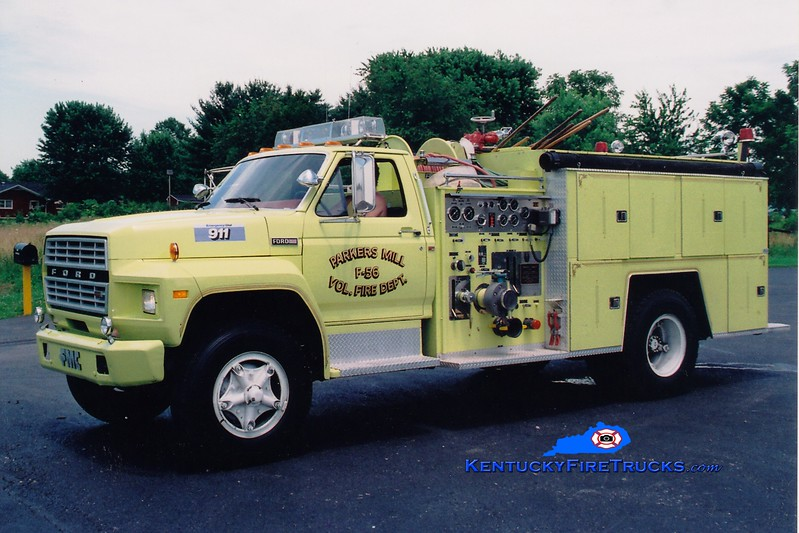 <center> RETIRED <br> Parkers Mill  Engine 56 <br> 1981 Ford F-800/FMC 750/750 <br> Greg Stapleton photo </center>