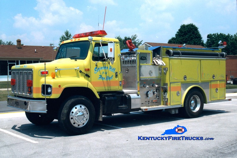 <center> Science Hill  Engine 61 <br> 1993 International/Allegheny 1250/1000 <br> Greg Stapleton photo <br> </center>
