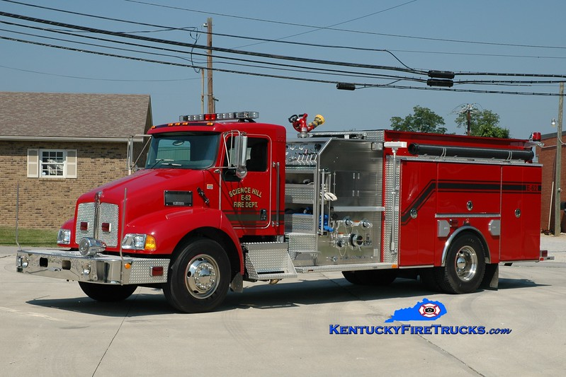 <center> Science Hill  Engine 62 <br> 2005 Kenworth T-300/Ferrara 1250/1000 <br> Greg Stapleton photo <br> </center>