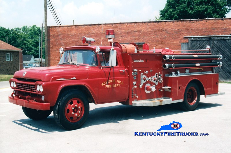 <center> RETIRED <br> Science Hill  Engine 62 <br> 1958 Ford F/American LaFrance 500/500 <br> Greg Stapleton photo <br> </center>