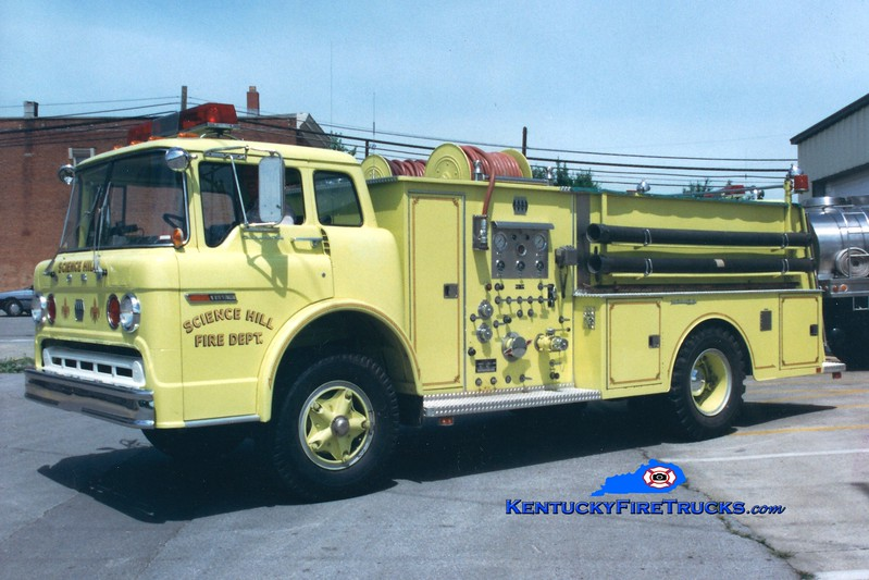<center> RETIRED <br> Science Hill  Engine 63 <br> 1978 Ford C/Jaco 750/750 <br> Greg Stapleton photo <br> </center>