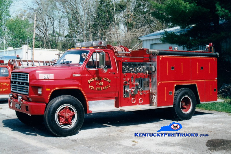 <center> RETIRED <BR> Shopville-Stab  Engine 69 <br> 1981 Ford F/FMC 750/750 <br> Greg Stapleton photo </center>