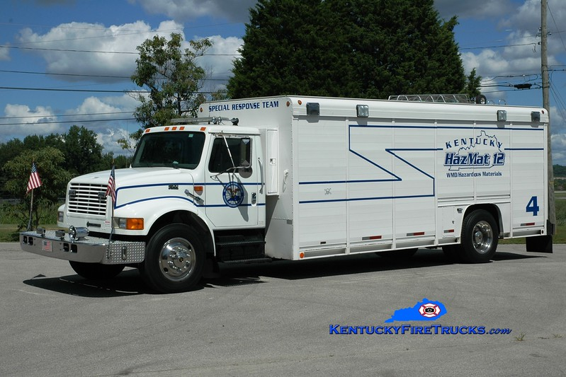 <center> Somerset-Pulaski County Special Response Team Unit 4 <br> 1996 International 4900/Centennial/Wynn Fuel Response Unit  <br> Greg Stapleton photo </center>