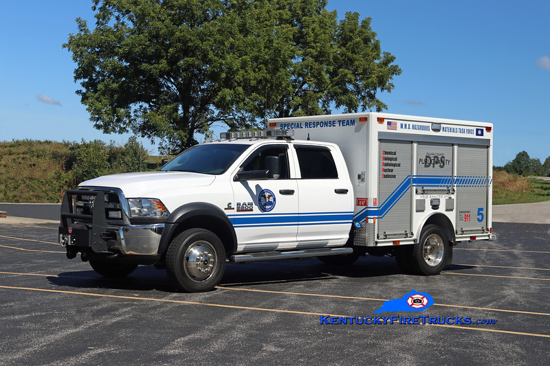 Somerset-Pulaski County Special Response Team  Unit 5<br /> 2016 Dodge Ram 5500 4x4/E-One Air Monitoring Unit<br /> Kent Parrish photo