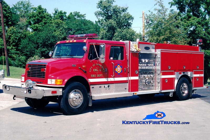 <center> RETIRED <br> Somerset  Engine 6 <br> 2000 International 4900/E-One 1250/500 <br> Greg Stapleton photo </center>