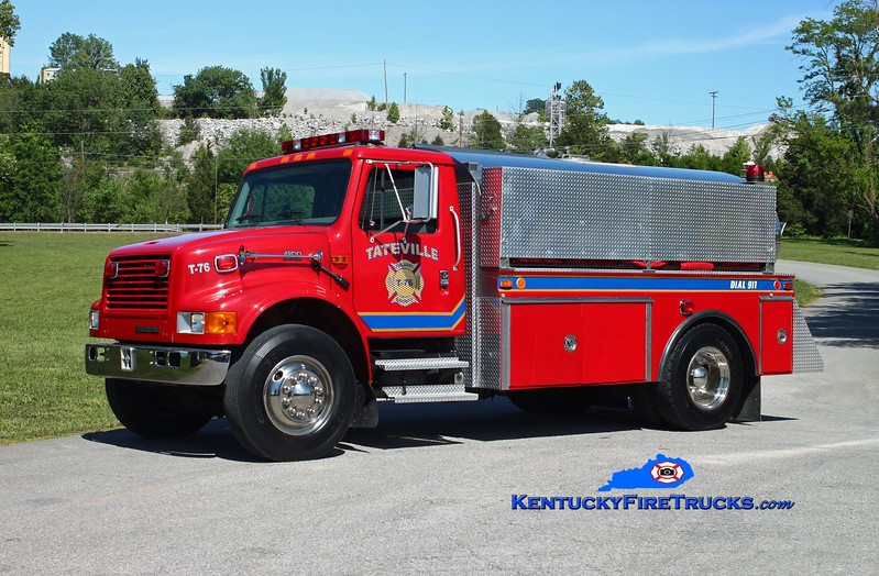 <center> Tateville  Tanker 76 <br> 1999 International 4900/4-Guys/2010 Wynn 250/1800 <br> Kent Parrish photo </center>