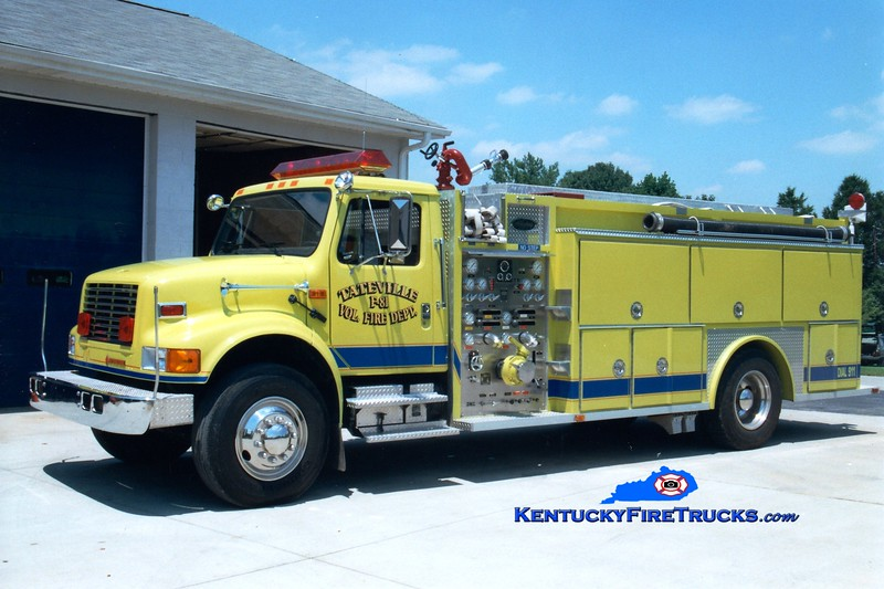 <center> Tateville  Engine 81 <br> 1992 International 4900/Allegheny 1000/1500 <br> Greg Stapleton photo </center>