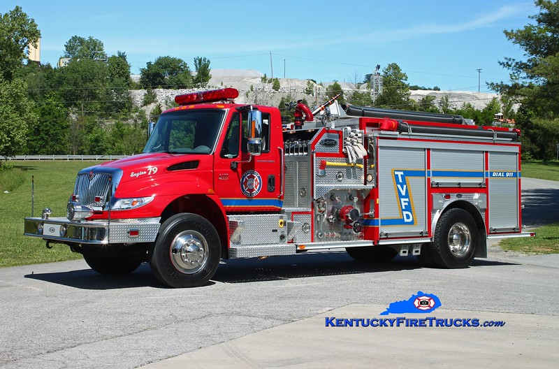 <center> Tateville  Engine 79 <br> 2006 International 4400/E-One 1500/1000/30 <br> Kent Parrish photo </center>