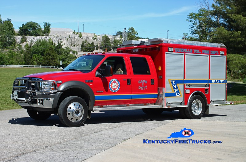 <center> Tateville  CAFS Unit 1 <br> 2005 Ford F-450/Wynn 250/200/25 <br> Kent Parrish photo </center>