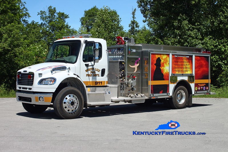 <center> White Lily  Engine 83 <br> 2011 Freightliner M2-106/Toyne 1250/1000/30 <br> Kent Parrish photo </center>
