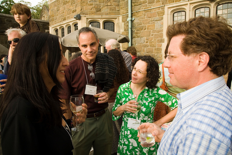 2009 Commencement/Reunion Weekend. L to R: Diana Gongora '84, Matt Canzonetti '84, Alison Guss, Ric Lewit '84