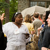 2009 Commencement/Reunion Weekend: Donna McDonald '84 (in white) talking with Allia Abdullah Matta '84