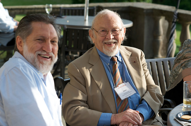 2009 Commencement/Reunion Weekend at Ward Manor (Prof. Justus Rosenberg on right)