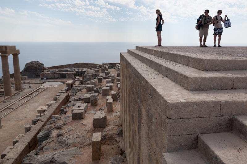 Ruins of the Lindos akropolis, Rhodes, Greece