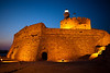 Agios Nikolaos Fort at night, Rhodes Town, Rhodes, Greece