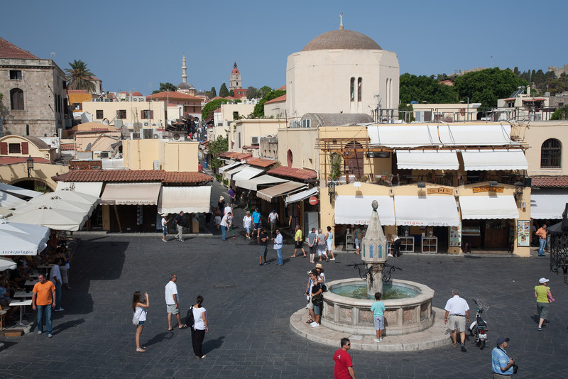 Hippocrates Square, Rhodes Town, Rhodes, Greece