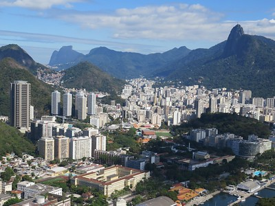 Rio, from Sugarloaf Mountain (Christ the Redeemer in the upper right)