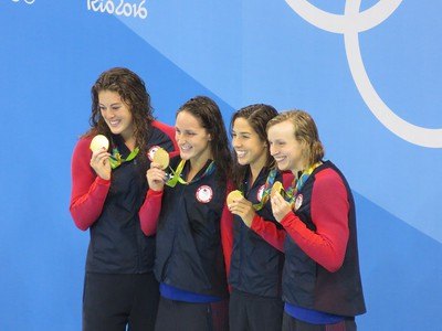 Allison Schmitt, Leah Smith, Maya DiRado and Katie Ledecky