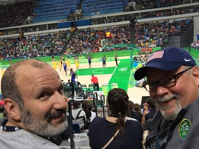 Joe and Ed at Men's Basketball: USA vs. Australia.