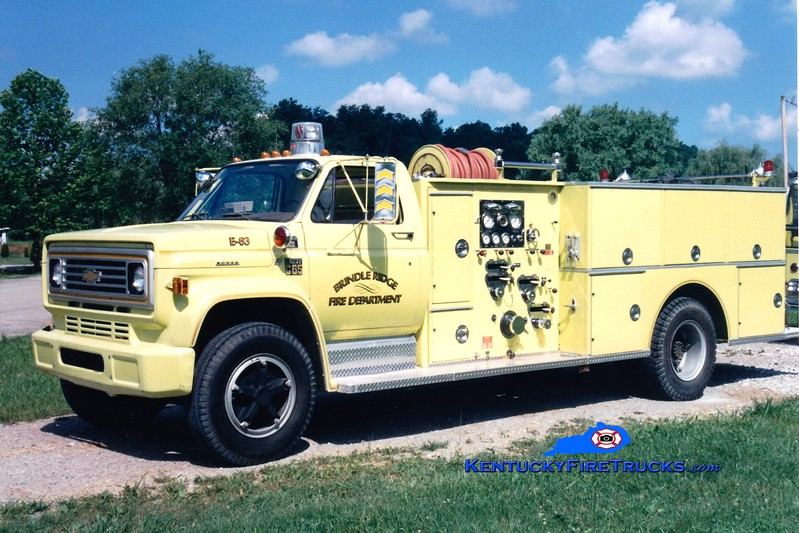 <center> RETIRED <br> Brindle Ridge  Engine 83 <br> x-Greensburg, KY <br> 1977 Chevy/Boyer 750/750 <br> Greg Stapleton photo <br> </center>