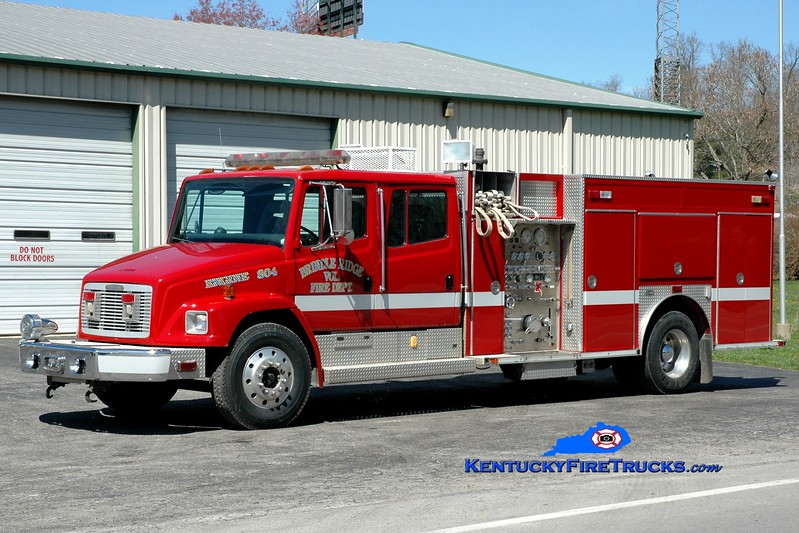 <center> Brindle Ridge  Engine 804 <br> x-Cedar Park, TX <br> 1994 Freightliner FL80/E-One 1250/950/50 <br> Greg Stapleton photo <br> </center>