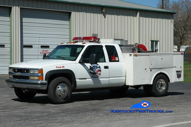 <center> Brindle Ridge  Truck 80 <br> 1999 Chevy 3500/Omaha 150/250 <br> Greg Stapleton photo <br> </center>