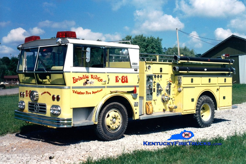 <center> RETIRED <br> Brindle Ridge  Engine 83 <br> x-Menands, KY <br> 1963 Ward LaFrance Mark I 750/500 <br> Greg Stapleton photo <br> </center>