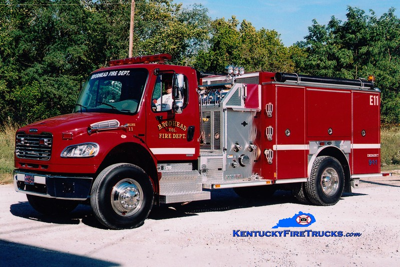 <center> Brodhead  Engine 11 <br> 2007 Freightliner M2-106/E-One 1250/1000  <br> Greg Stapleton photo </center>