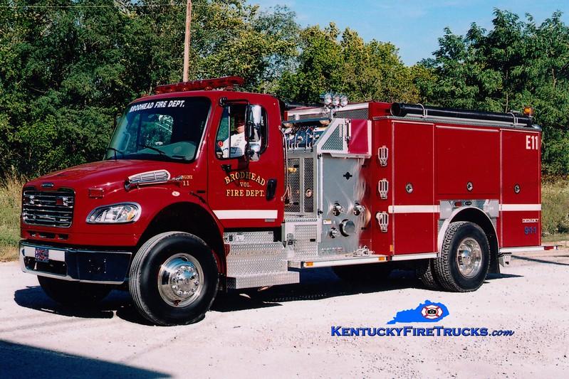 <center> Brodhead  Engine 11 <br> 2007 Freightliner M2-106/E-One 1250/1000  <br> Greg Stapleton photo </center>
