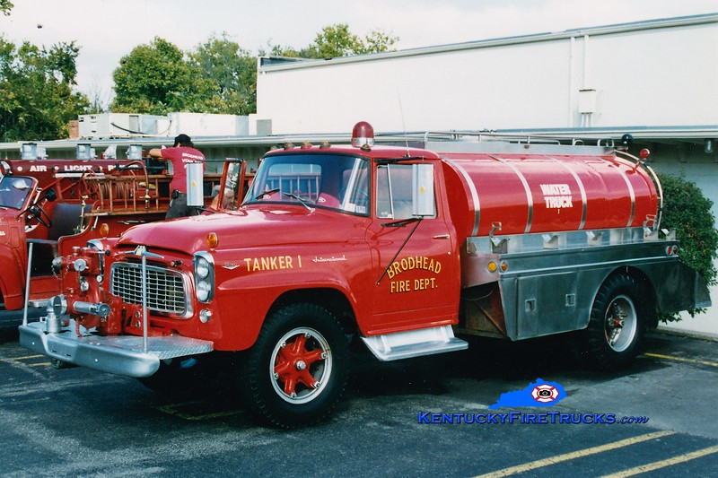 RETIRED<br /> Brodhead  Tanker 1<br /> 1964 International/FD 500/1500<br /> Greg Stapleton photo