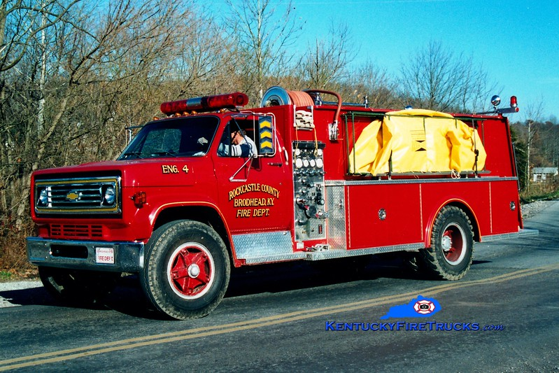 <center> RETIRED <br> Brodhead  Tanker 14 <br> 1985 Chevy/Allegheny 500/1250 <br> Greg Stapleton photo </center>