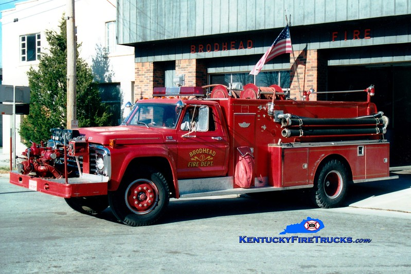 <center> RETIRED <br> Brodhead  Engine 3 <br> 1977 Ford F-700/American 750/1000 <br> Greg Stapleton photo </center>