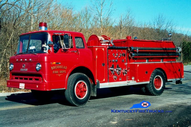 <center> RETIRED <br> Brodhead  Engine 2 <br> 1972 Ford C/FMC-Bean 750/500 <br> Greg Stapleton photo </center>